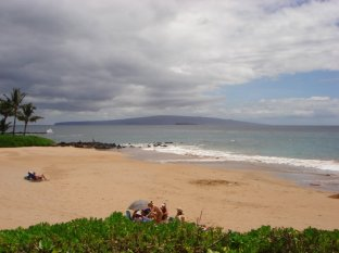 Polo Beach Maui #408 View of beach from north lawn